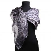 Модный шарф с леопардовой расцветкой в серых тонах Leonard 65260