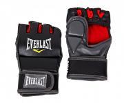 """Перчатки тренировочные Everlast """"Grappling SM"""", цвет: черный, красный"""