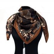 Красивый платок шоколадно-коричневый Ungaro 818070