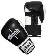 """Перчатки боксерские Clinch """"Punch"""", цвет: черно-белый, 10 унций. C131"""