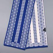 Зимний сине-белый шарф Versace 71408