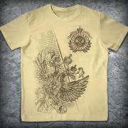 Патриотическая футболка «Россия. Гимн», Цвет Бежевый, Размер XXL