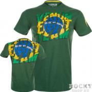 Футболка Venum Brazilian Flag T-Shirt - Green Venum
