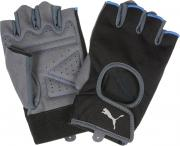 Перчатки для фитнеса Puma Training Gloves, цвет: черный, серый....