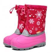 Сапоги Сноубутсы Nordman Снежинки на розовом