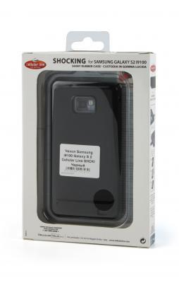 Чехол для Samsung i9000 Galaxy S Cellular Line Shocking Case SHCKI9000BK сделан из резины, идеальное.