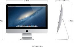 компьютер-моноблок Apple iMac 21 ME086