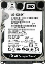 жесткий диск Western Digital WD1600BEKT
