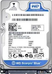 жесткий диск Western Digital WD1600BEVT