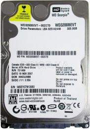 жесткий диск Western Digital WD3200BEVT
