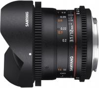 объектив Samyang 12mm T3.1 ED AS NCS VDSLR Fish-eye Nikon F