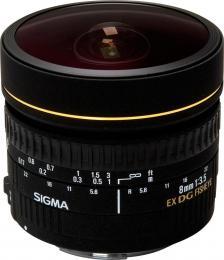 объектив Sigma AF 8mm f/3.5 EX DG Circular Fisheye Nikon F