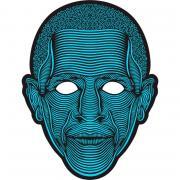 Звуковая светодиодная маска LED Mask (Синий)