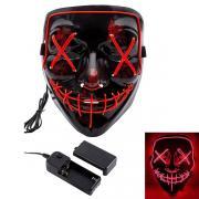 Неоновая маска Судная ночь (Красный)