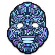 Звуковая светодиодная маска LED Mask robot