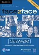 Chris Redston, Gillie Cunningham. Face2Face Edition Pre-intermediate Classware DVD-ROM (аудиокнига на DVD) ISBN 9781107610552.