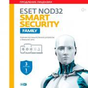 Цифровая версия ПО ESET NOD32 Smart SecurityFamily Продление 3 устройства