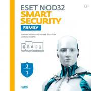 Антивирус ESET NOD 32 Smart Secuirty 3 устройства на 1 год