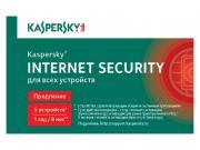 Программное обеспечение Kaspersky Internet Security Rus 5-Device 1 year Renewal Card KL1939ROEFR