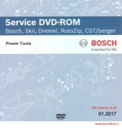 Bosch Service DVD-ROM Bosch, Skill, Dremel, RotoZip, CST/berger SIS Version 6.26 - 01.2017 (1609929DF5 , 1.609.929.DF5)