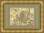 Новая Европа Йодокуса Хондиуса 1606г в багете 88см х68 см