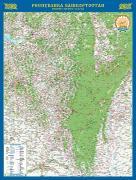 Республика Башкортостан-настенная карта 152х 200 см