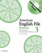 American English File Level 3: Workbook with Multi-ROM Pack ISBN 9780194774505.