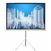 Экран напольный Cactus 104.4x186см Triscreen, 16:9, рулонный, белый
