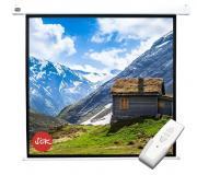 Проекционный экран размер: 220х220 настенно-потолочный Sakura SCPSM-220x220 (с электроприводом)