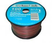 Акустический кабель Technolink 2x1,00 кв.мм 100м (ч/к)