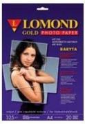 Фотобумага Lomond 1100202 A4/325г/м2/20л. атласная Gold Baryta Super Premium для струйной печати