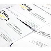 Бланки визитных карточек, матовые, фотокачество, микроперфорация, А4, 200 гр., 10листов