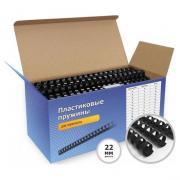 Пластиковые пружины Office Kit A4 22мм черный