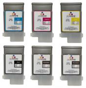 Комплект картриджей PFI-102 6x130 мл для Canon imagePROGRAF (IPF500/ IPF510/ IPF600/ IPF605/ IPF610/ IPF650/ IPF655/ IPF700/ IPF710/ IPF720/ IPF750/ IPF755/ LP17)