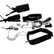 Тактическая ларингофонная гарнитура Kenwood EMP-3963 (ларингофон) скрытого ношения с выносной кнопкой на липучке