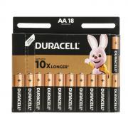 Батарейка Duracell АА, LR06-18BL, 1.5V, алкалиновая (щелочная)-18шт.
