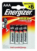 Батарейки Energizer Max E92/Aaa1,5V - 6 шт., Energizer