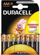 Батарея Duracell LR03-8BL Basic AAA 8шт