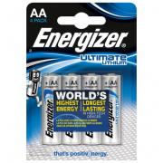 Батарейки Energizer Ultimate Lithium L91 AA - 4 шт., Energizer
