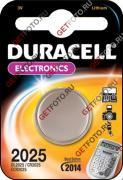 Батарейка duracell cr 2025 (150 ма/ч, 3в, литий (lithium)). упаковка 3 батарейки. GF 751