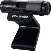 Веб-камера AVerMedia Streamer CAM 313 (PW313) FullHD 1080p, шторка, два микрофона, поворот, установка на монитор, на столе и на штатив