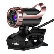 HD USB веб-камера с микрофоном для онлайн-встреч MSN Skype - черный