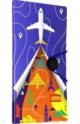 """Папка-органайзер для путешствий """"САМОЛЁТ"""" 6 отделений (48311) ISBN 4606008405692."""