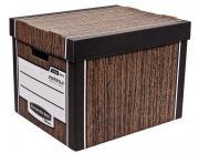 Архивный короб Fellowes Bankers Box Woodgrain сборка FastFold™, 325 x 285 x 385 мм FS-00610