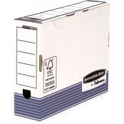 Переносной короб с крышкой Fellowes Bankers Box System 80mm A4 синий FastFold™, 80 х 315 х 260 мм FS-00264