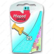 Кнопки-гвоздики Maped 25 шт. в пластиковой упаковке (345011)