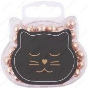 """Кнопки-гвоздики шар """"Кошка"""" 50 шт. в пластиковой упаковке (13-Alldo-100104R)"""