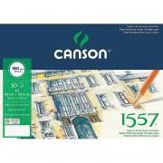 Альбом Canson 1557, для графики, на пружине, 30 листов, 180 гр/м2, мелкое зерно