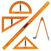 Brauberg Набор чертежный для классной доски (5 предметов)