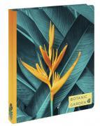 Тропический цветок. Блок с кольцами, А5, 96 л., с разделителями, зол. фольга